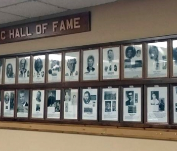 NDSD Athletic Hall of Fame wall